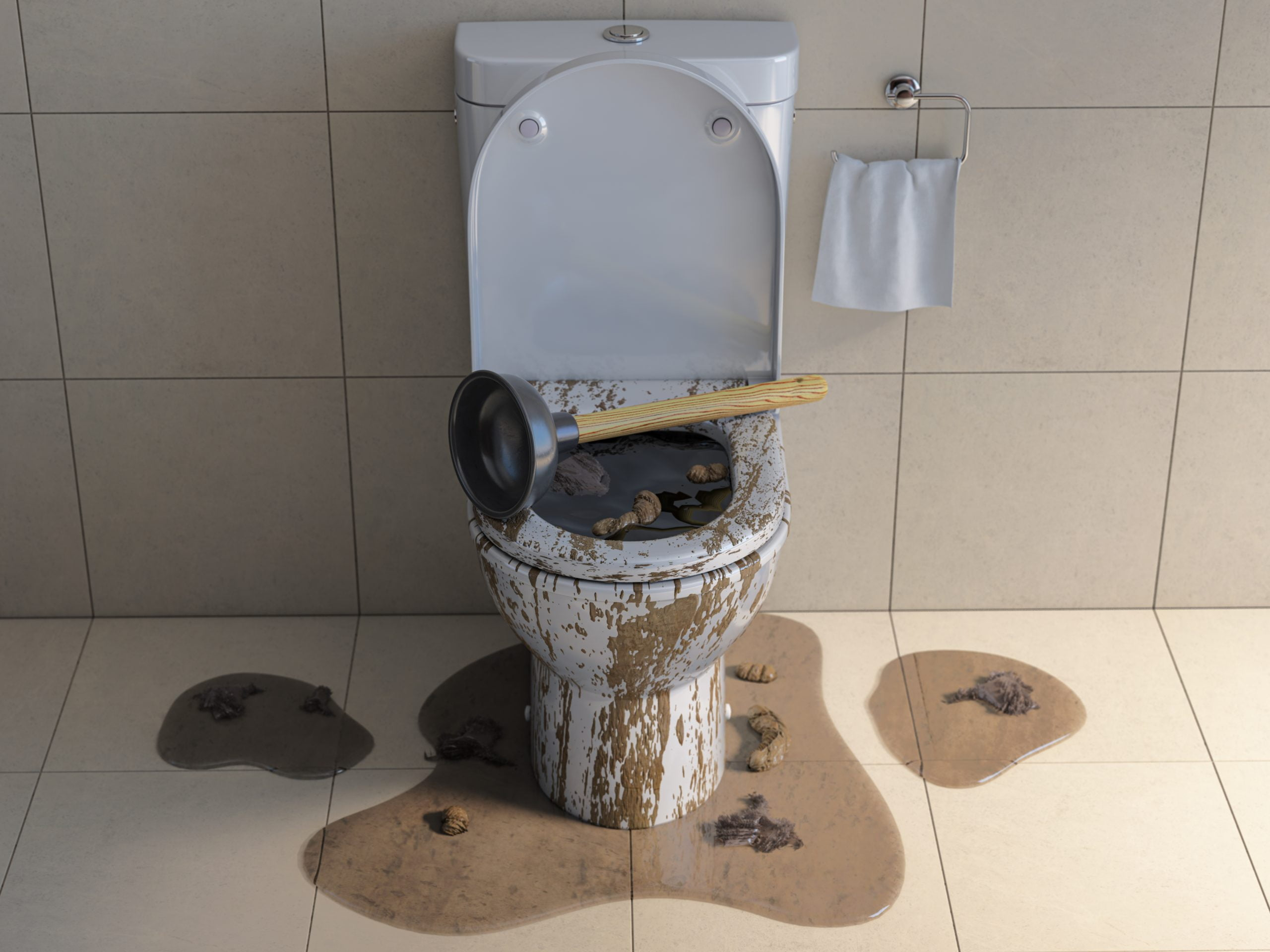 toilet clogged and not drain. Choice Plumbing toilet drain cleaning